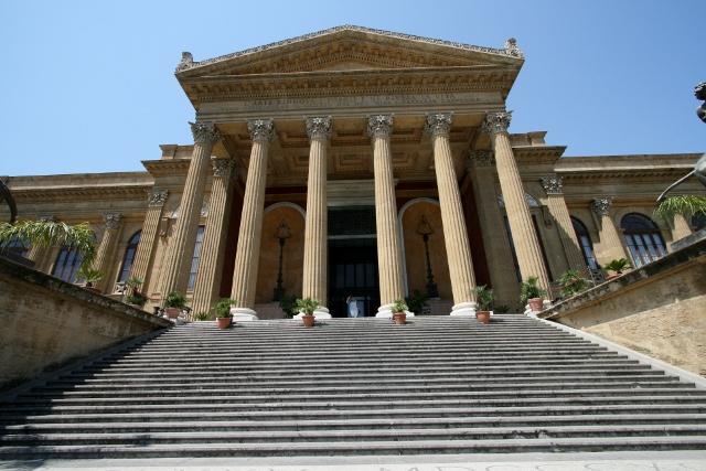 The Opera House in Piazza Guiseppe Verdi