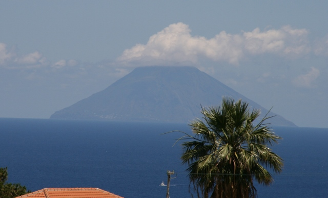Stromboli in view, hard to believe it is almost 50 km away