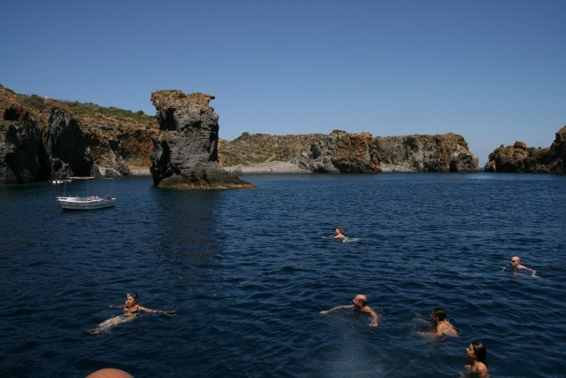 Swimmers at Isola Panarea