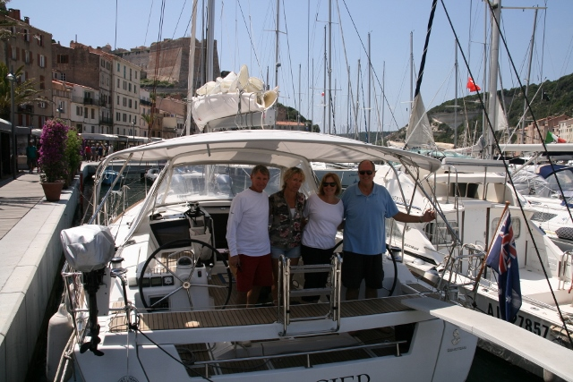 The crew in Bonifacio