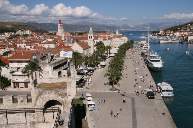 Trogir from Kamerlengo Castle