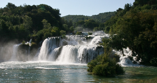Skradinski buk - a travertine waterfall
