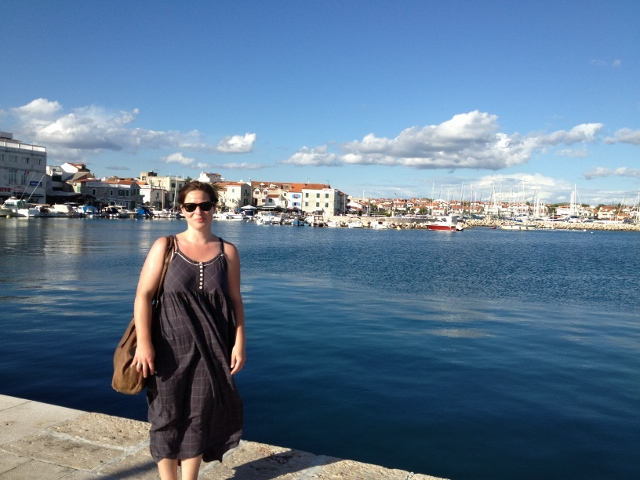 Claire at Vodice Harbour