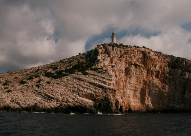 One of the oldest lighthouses on the Adriatic, circa 1839. Svjetionik Struga