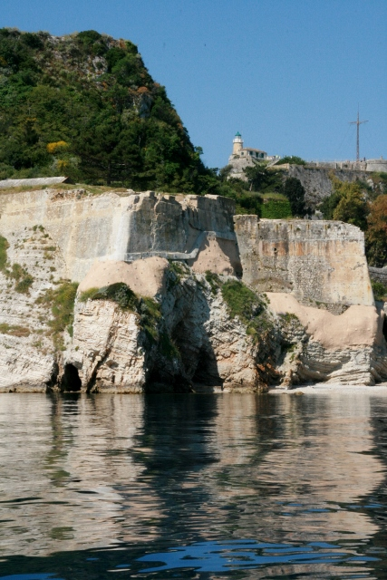 Corfu Old Fort from the water