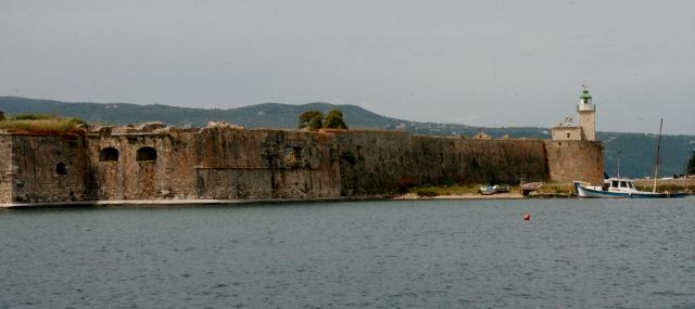 Castle at Lefkada canal entrance