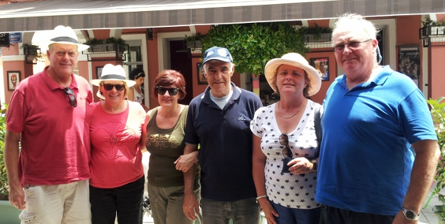 The Crew with John & Denise from Zakynthos