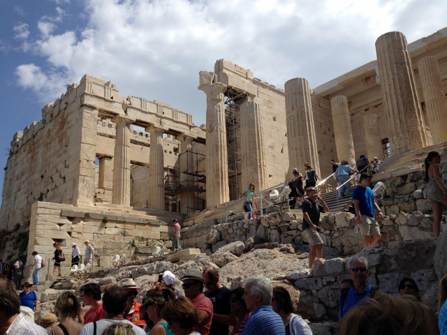 Climbing up to the Acropolis