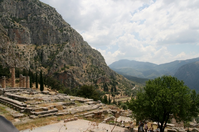 Delphi, looking into the valley which was once the sea