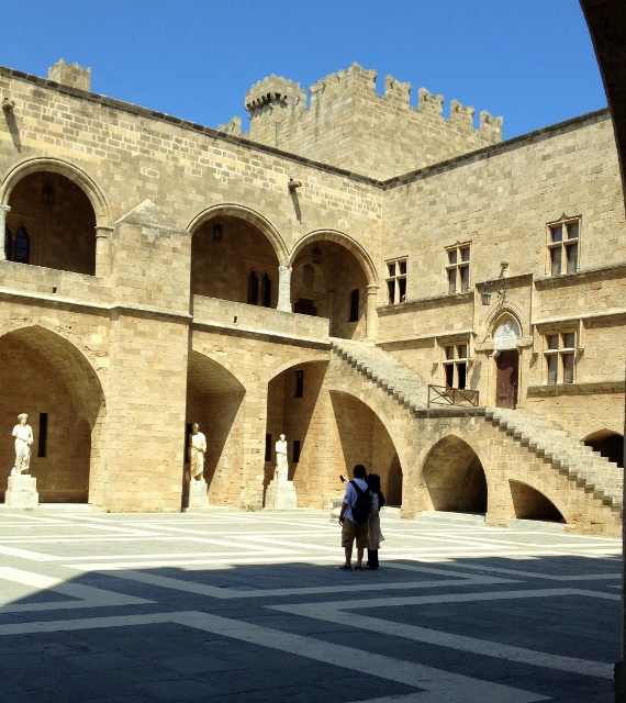 Courtyard of Palace of the Grand Master