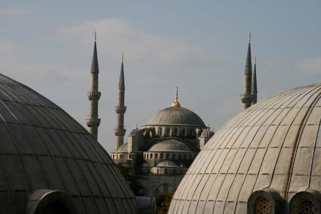 Blue Mosque from Haghia Sophia